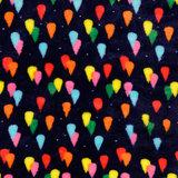 Wellnessfleece - Colored Raindrops - Navy_