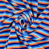 Nicky Velours - Strepen - Blauw/Oranje_