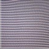 Gebreid - Blauwe streep - Ecru_