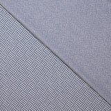 Jacquard - Diagonal Striped Squares - Jeansblauw_