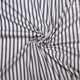 Stretch Katoen - Stripes - Groen/Ecru_
