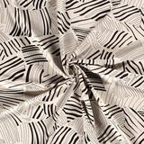 Viscose Linnen - Abstract Leaves - Gebroken Wit_