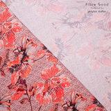 Crepe - Flowers - Roze_