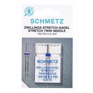 Schmetz Stretch Tweeling 1 naald 2.5-75