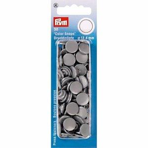 Prym Drukknoop Colorsnaps 12,4 mm Zilver Grijs
