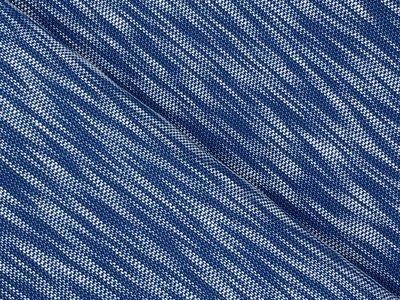 Gebreid Katoen Blauw