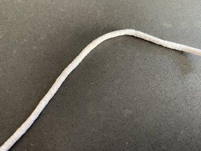 Zachte ronde Elastiek 3mm, kleur wit