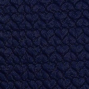 Polyester Stepped Heart Navy