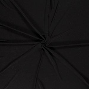 Effen Jersey Folie Zwart