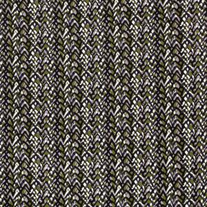Katoen Satijn - Abstract - Donkergroen