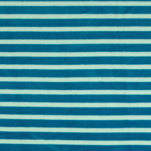 Nicky Velours - Strepen - Lichtblauw/Petrol
