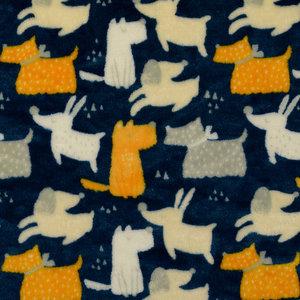 Wellnessfleece - Doggies - Jeansblauw