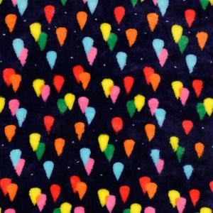 Wellnessfleece - Colored Raindrops - Navy