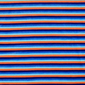 Nicky Velours - Strepen - Blauw/Oranje