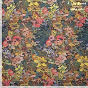 Viscose Crepe - Flowers Digital - Multicolor