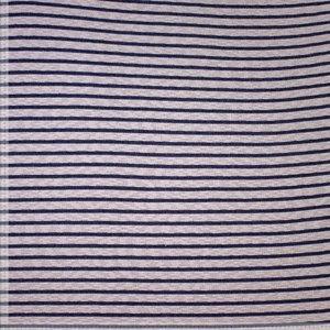Gebreid - Blauwe streep - Ecru