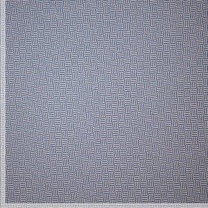 Jacquard - Diagonal Striped Squares - Jeansblauw