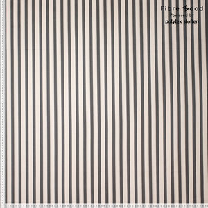 Stretch Katoen - Stripes - Groen/Ecru