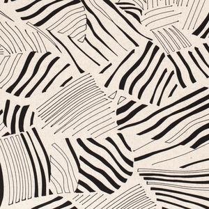 Viscose Linnen - Abstract Leaves - Gebroken Wit