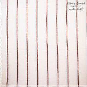 Tetra - Red Stripes - Ecru