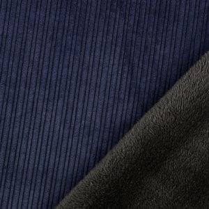 Ribfluweel - Uni - Donkerblauw